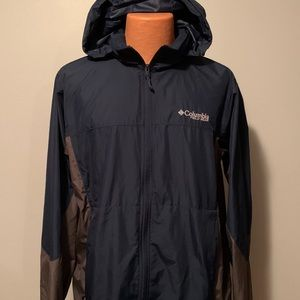 Columbia Field Gear Windbreaker Hooded Jacket Lg